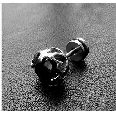 anting pejantan pria titanium hitam 1 buah 2015 9 99