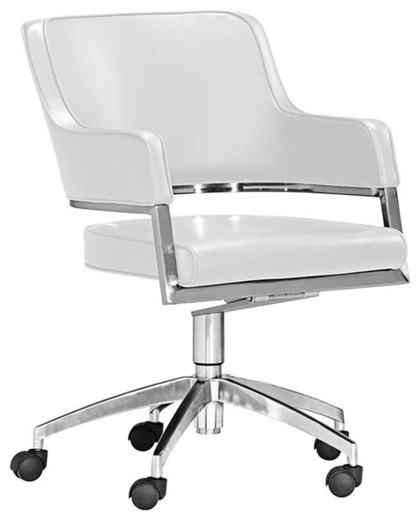 zuo performance collection white office chair