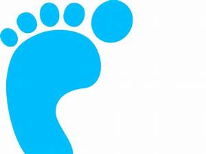 Blue Baby Footprints Clipart - ClipArt Best