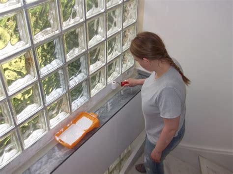 Fliesen Drüber Streichen by Glas Holz Sonntagsarbeit Umbau Farbe Glasbausteine
