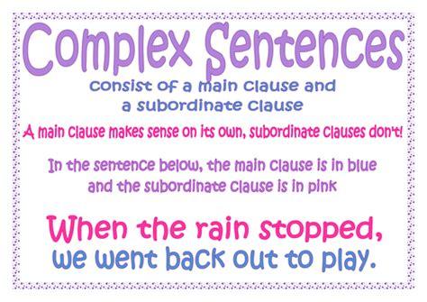 complex sentences main  subordinate clause