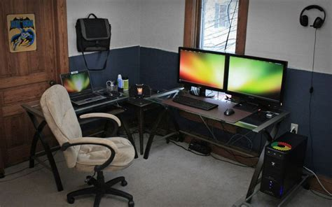 comfortable computer room ideas at home simple home