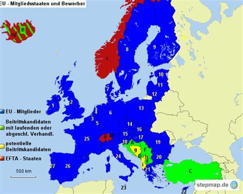 eu staaten mit nummern von pramschiefer landkarte fuer europa