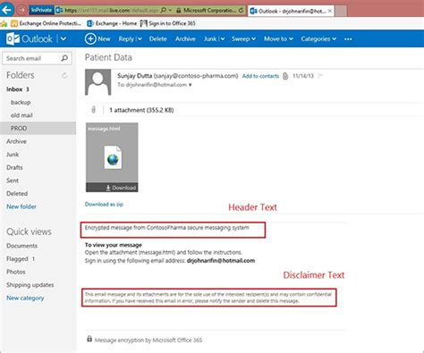 Office 365 Portal Email by Introducing Office 365 Message Encryption Send Encrypted