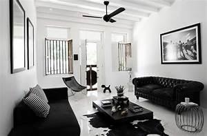 idees cadeaux de noel selection noire et blanche clem With deco salon moderne noir et blanc