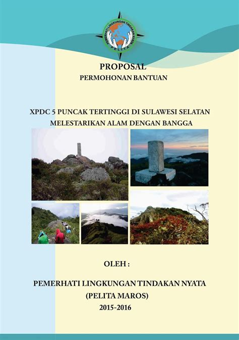 contoh proposal kegiatan pendaki gunung contoh penulisan