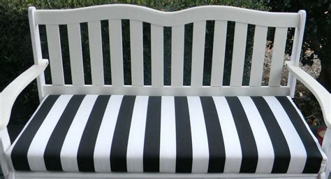Black White Bench by In Outdoor Swing Bench Cushion Black And White Stripe