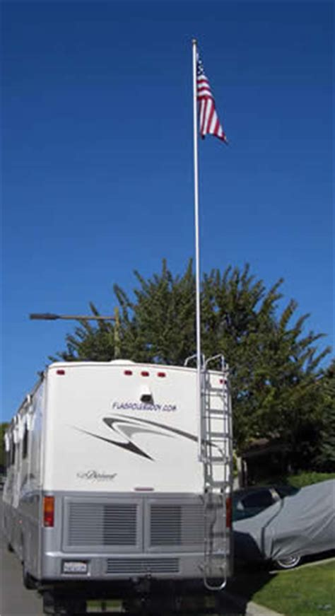 extended flagpole buddy kit  flag great   rv