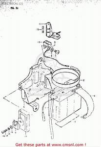 Suzuki Or50 1979 1980  N   T  Usa  E03  Electrical  2