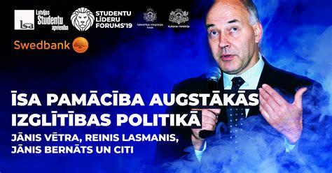 Studentu līderu foruma pre-seminārs notiks jau šonedēļ - LSA
