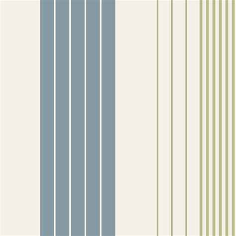 b q rocky blue cream green stripe wallpaper