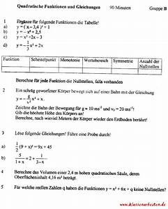 Quadratische Funktionen A Berechnen : nullstellen berechnen klasse 9 ~ Themetempest.com Abrechnung