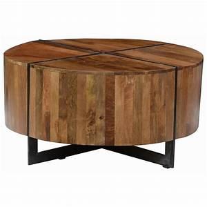 classic home desmond round mango wood coffee table with With round mango wood coffee table