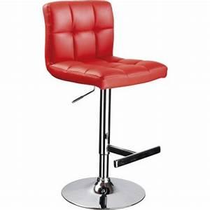 Chaise De Bar Rouge : chaise de bar matelass e suzana rouge lyon femmes ~ Teatrodelosmanantiales.com Idées de Décoration