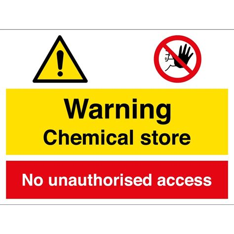 key cabinet chemical store no unauthorised access signs from key