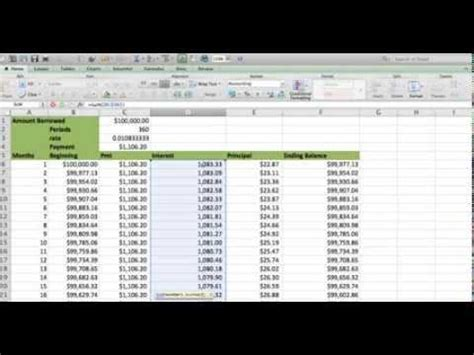build  amortization table  excel fast  easy