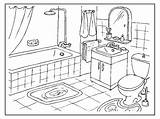 Coloring Pages Colouring Bathroom Kleurplaat Perspective Adult Badkamer Clean Drawing Cleaning Da Toilette Paper Houses Visit Tapis Douche sketch template