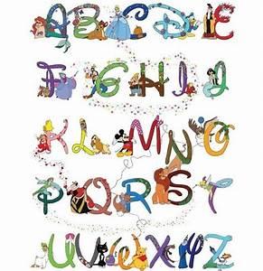 disney alphabet disney pinterest disney alphabet With disney character letter art