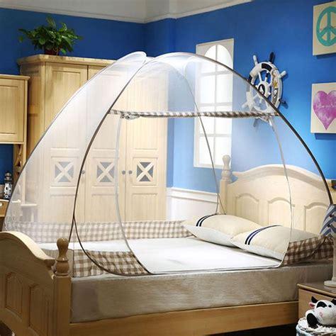 standing pop  mosquito net tent canopy  floor  twin full queen small king beds