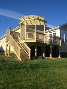 elevated  raised deck ideas images deck
