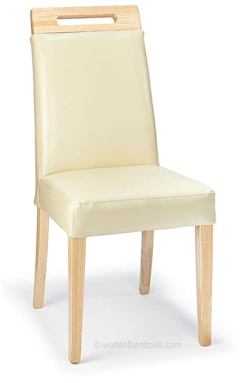 modena dining chair leather oak