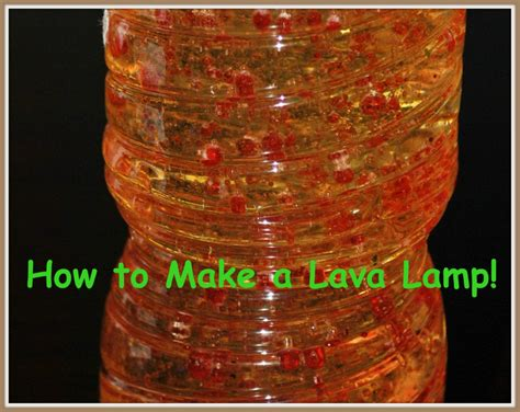 How To Make Fall Decorations At Home: How To Make A Homemade Lava Lamp