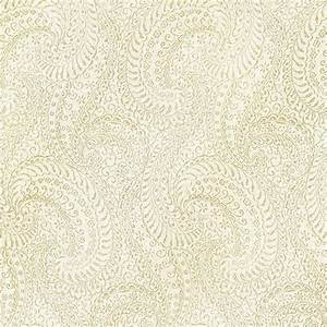 Kenneth James Daraxa Light Grey Paisley Wallpaper Sample ...