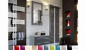 ensemble de meuble d39entree mural novomeuble With porte d entrée pvc avec ensemble meuble vasque miroir salle de bain