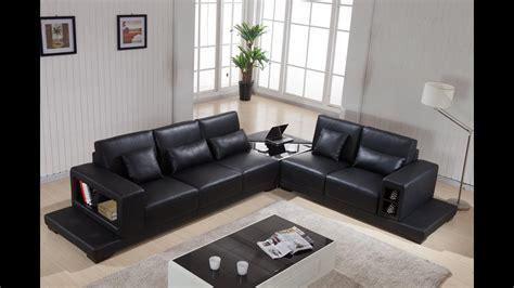 leather sofa living room furniture ideas youtube