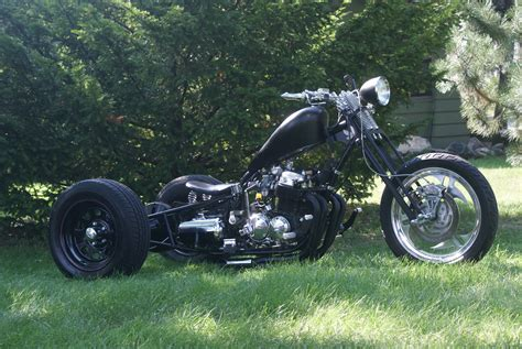 Big Motorcycles Remaked On Custom Reverse Trikes