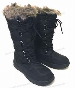 Women's Winter Boots Snow Fur Warm Insulated Waterproof ...