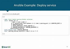 continuous deployment in leanix bonn agile With ansible template example