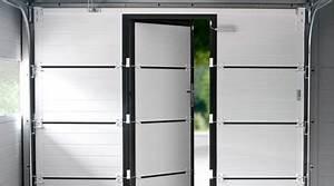 prix d39une porte de garage avec portillon cout moyen With porte de garage sectionnelle avec portillon tarif