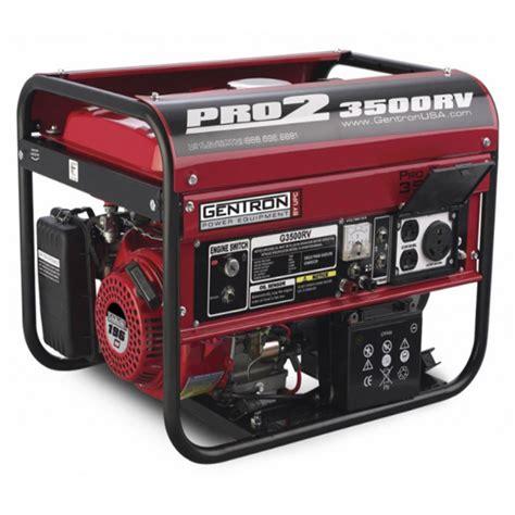 gentron pro series portable  hp  watt rv generator