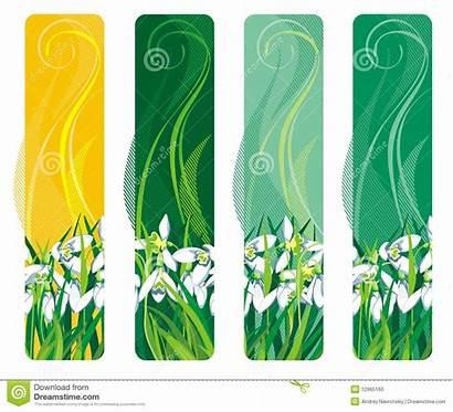 Vertical Spring Flower Banner
