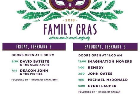 Family Gras 2018: See the full concert schedule - NOLA Weekend