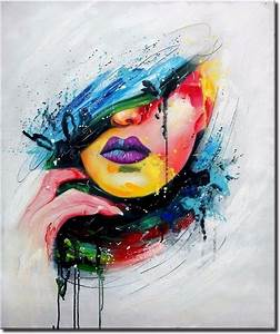 'Graffiti Woman' Beautiful Abstract Oil Painting Portrait ...