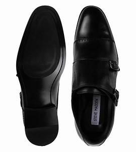 Buy Steve Madden Black Mantle Leather Monk Strap Shoes For