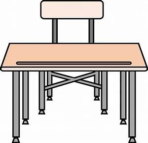 Clipart - An empty desk
