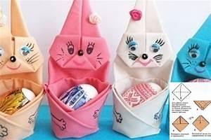 Pliage Serviette Lapin Simple : comment faire un pliage de serviette en de jolis lapins pour p ques c 39 est fait maison ~ Melissatoandfro.com Idées de Décoration