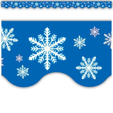 snowflakes scalloped border trim tcr teacher
