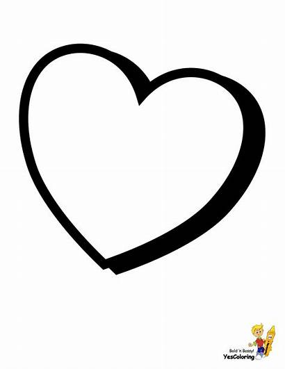 Coloring Valentines Pages Blank Valentine Heart Printable