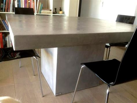 cuisine design ilot central table beton cire com le site des tables en béton ciré