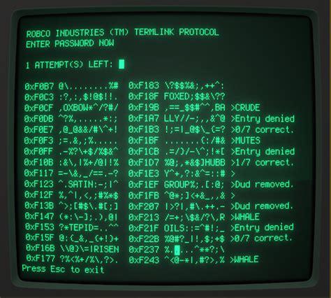 robco fallout hacking game term vegas mini installation ncurses