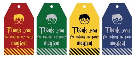 printable harry potter party favor gift tags lovely