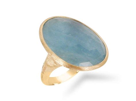 marco bicego  yellow gold lunaria aquamarine ring alson jewelers