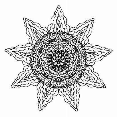 Mandala Sun Coloring Pages Printable Mandalas Designs