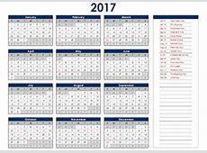 2017 Calendar With UK Holidays FREE Printable UK