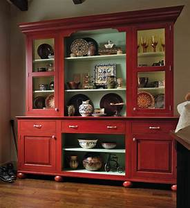 European Country Hutch Wood-Mode Fine Custom Cabinetry