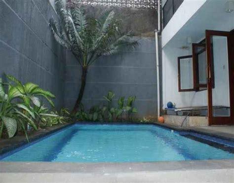 desain rumah  kolam renang minimalis modern